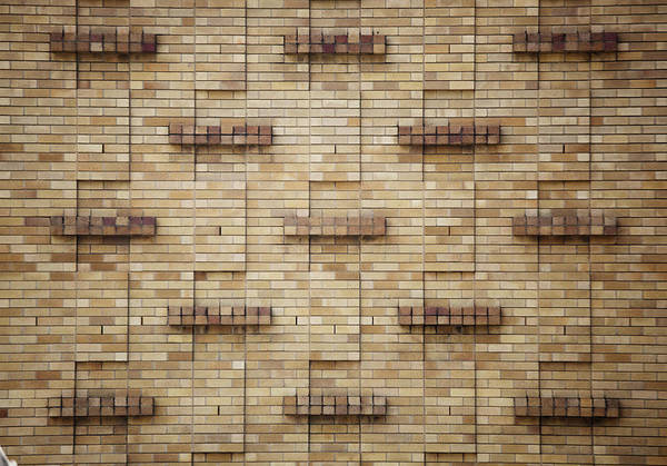 Brick Wall Photograph - Wall With Protruding Parts by Tobias Thomassetti / Stock4b