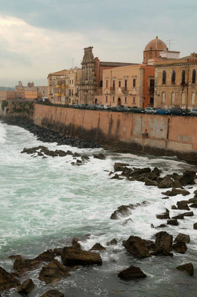 Sicily Photograph - Walled City Of Syracuse On The Sicilian by Stuart Mccall
