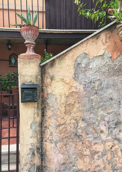 Photograph - Walled Entrance In Rome Italy by Gary Slawsky