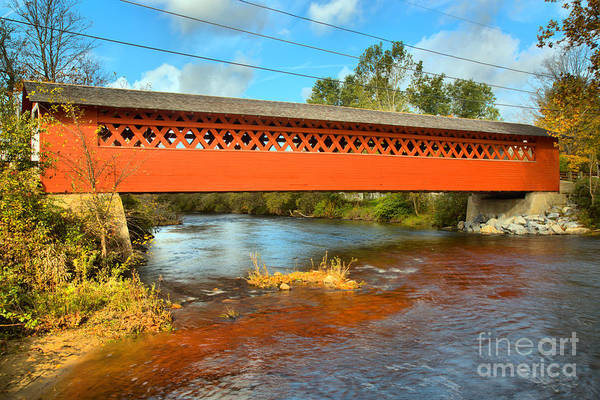 Photograph - Walloomsac River Covered Bridge by Adam Jewell