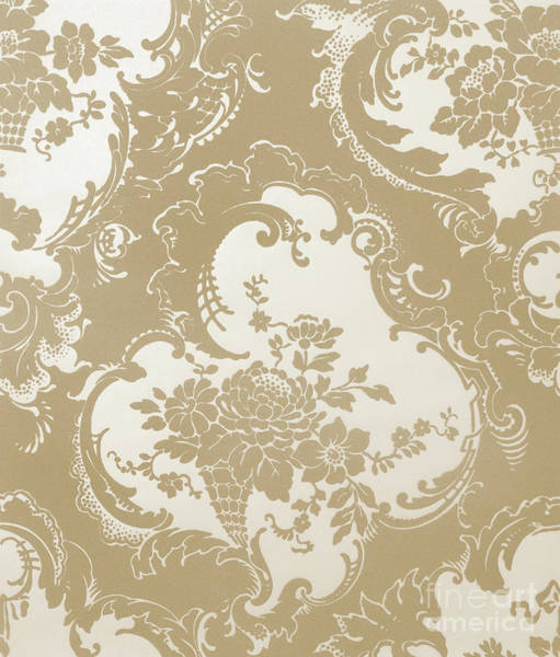 Wall Art - Drawing - Wallpaper Sample, Brown by English School