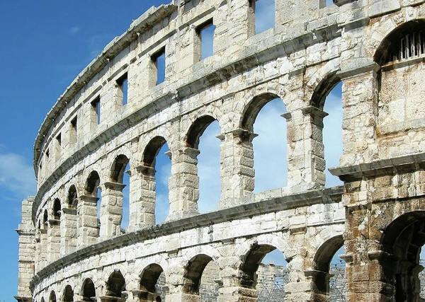 Roman Wall Photograph - Walls Of The Pula Area, Pula, Istria by Joe & Clair Carnegie / Libyan Soup