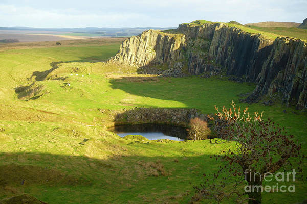 Hadrians Wall Photograph - Walltown Crags On Hadrians Wall In Northumberland by Louise Heusinkveld