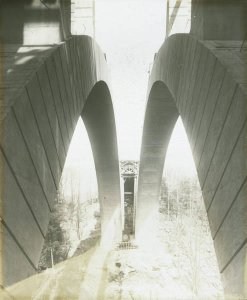 Photograph - Walnut Lane Bridge Under Construction by Unknown