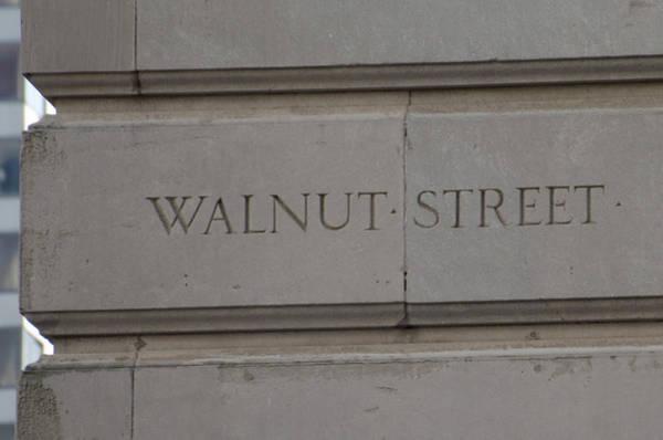 Wall Art - Photograph - Walnut Street Corner Stone by Bill Cannon