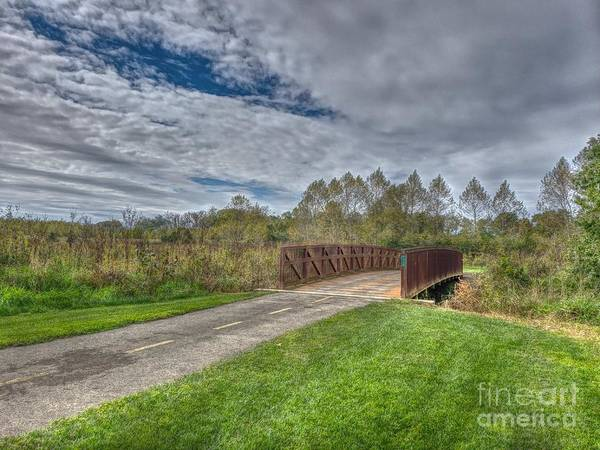 Photograph - Walnut Woods Bridge - 1 by Jeremy Lankford