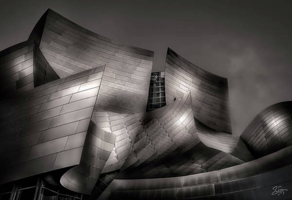 Photograph - Walt Disney Concert Hall by Endre Balogh