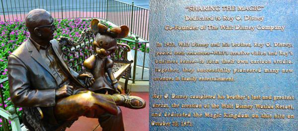 Wall Art - Photograph - Walt Disney World And Roy O. Disney At The Magic Kingdom by David Lee Thompson