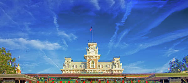 Wall Art - Photograph - Walt Disney World Entrance Panorama by Mark Andrew Thomas