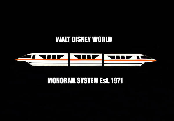Wall Art - Photograph - Walt Disney World Monorail 1971 Poster A by David Lee Thompson