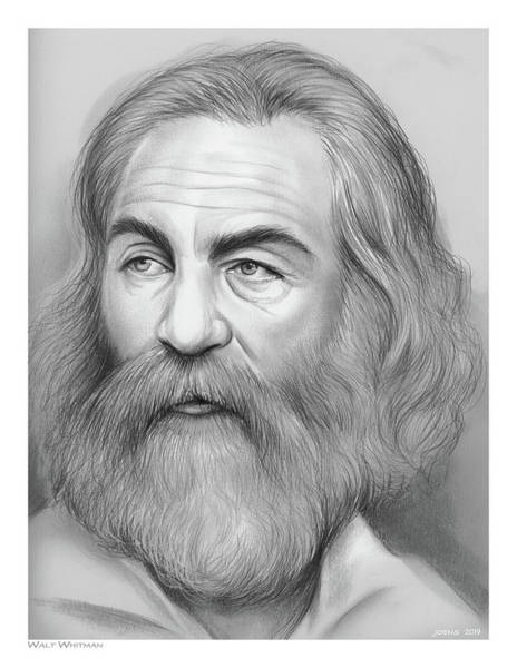 Wall Art - Drawing - Walt Whitman by Greg Joens