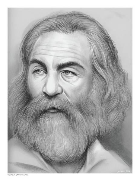 Drawing - Walt Whitman by Greg Joens