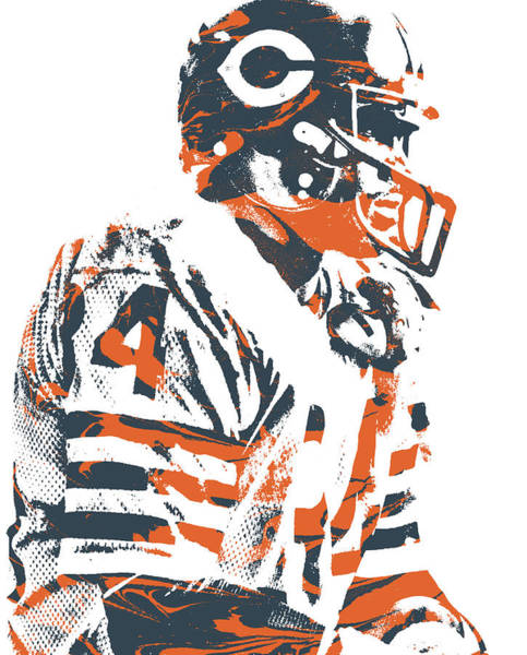Wall Art - Mixed Media - Walter Payton Chicago Bears Pixel Art 10 by Joe Hamilton