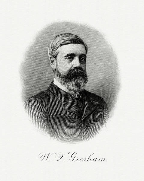 Matter Painting - Walter Q. Gresham by The Bureau of Engraving and Printing