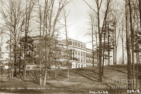 Photograph - Walter Reed General Hospital Dec. 2, 1924 by California Views Archives Mr Pat Hathaway Archives