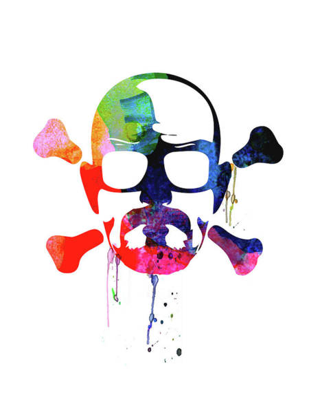 Bad Wall Art - Mixed Media - Walter Skull Watercolor by Naxart Studio