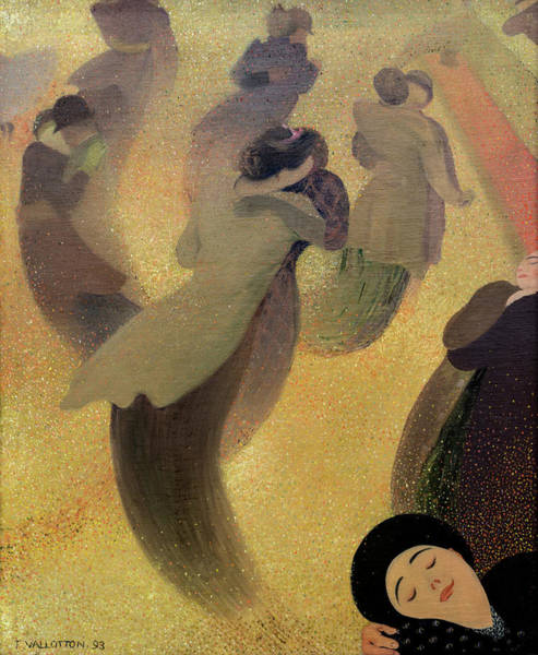 Wall Art - Painting - Waltz, 1893 by Felix Vallotton