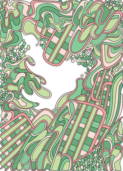 Drawing - Wandering 36 Color Variation 3 by Dream Ripple