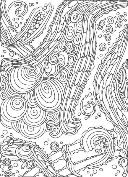 Drawing - Wandering 38 Black And White Line Art by Dream Ripple