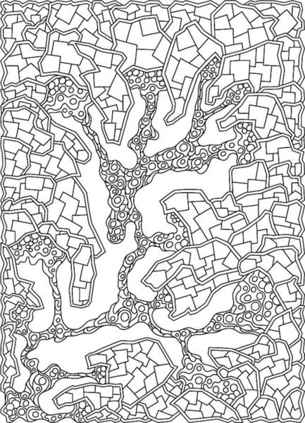 Drawing - Wandering 40 Black And White Line Art by Dream Ripple