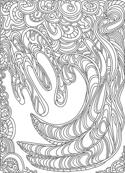 Drawing - Wandering 41 Black And White Line Art by Dream Ripple