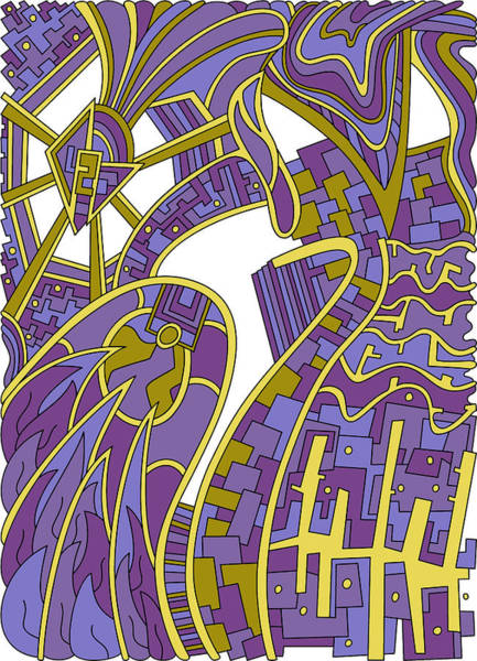 Drawing - Wandering 42 Color Variation 1 by Dream Ripple