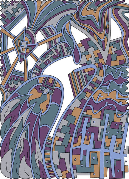 Drawing - Wandering 42 Color Variation 2 by Dream Ripple