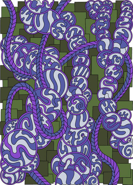 Drawing - Wandering 43 Color Variation 1 by Dream Ripple