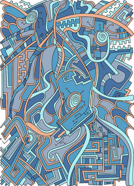Drawing - Wandering 44 Color Variation 3 by Dream Ripple