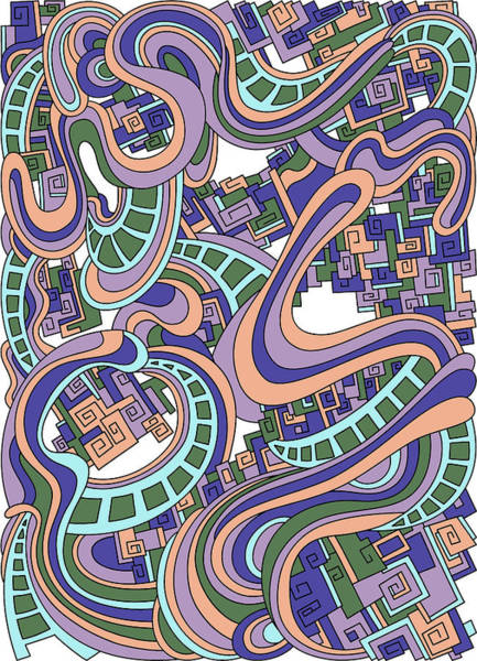 Drawing - Wandering 45 Color Variation 1 by Dream Ripple