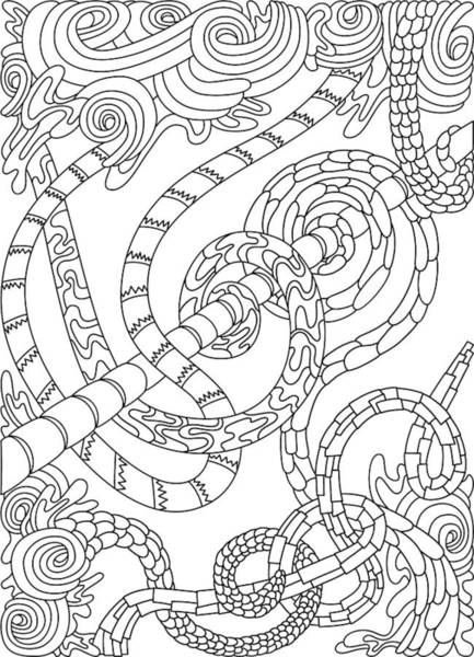 Drawing - Wandering 46 Black And White Line Art by Dream Ripple