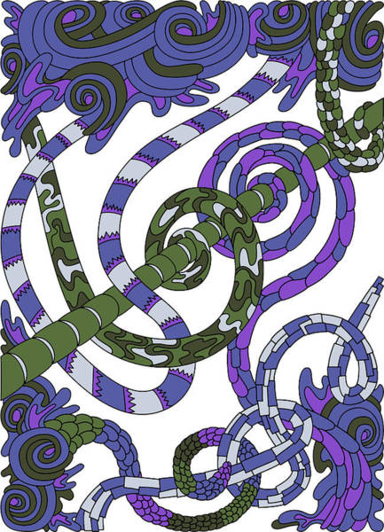 Drawing - Wandering 46 Color Variation 1 by Dream Ripple