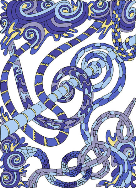 Drawing - Wandering 46 Color Variation 2 by Dream Ripple