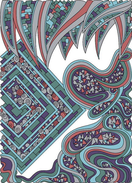 Drawing - Wandering 47 Color Variation 1 by Dream Ripple