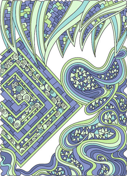 Drawing - Wandering 47 Color Variation 2 by Dream Ripple