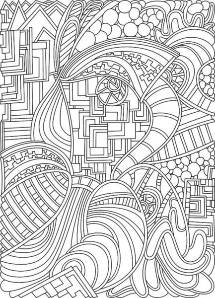 Drawing - Wandering 48 Black And White Line Art by Dream Ripple