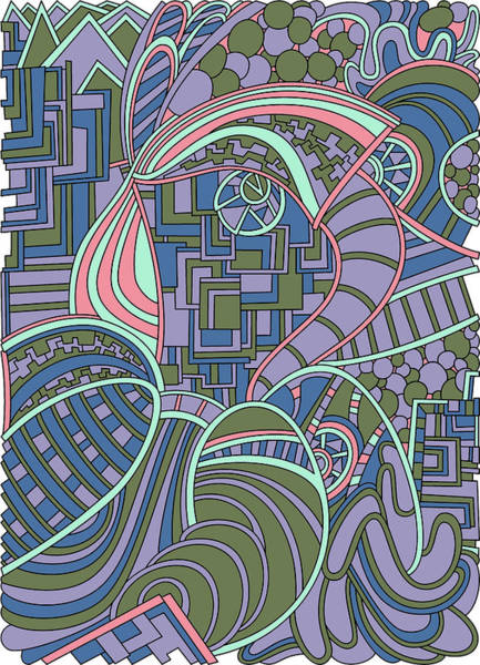 Drawing - Wandering 48 Color Variation 1 by Dream Ripple