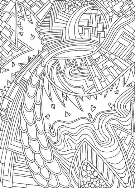 Drawing - Wandering 49 Black And White Line Art by Dream Ripple
