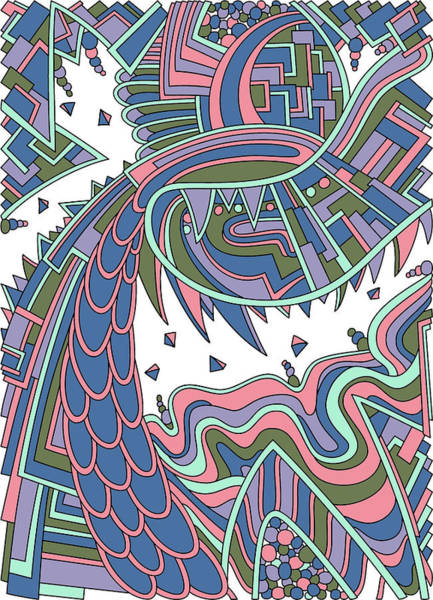 Drawing - Wandering 49 Color Variation 1 by Dream Ripple