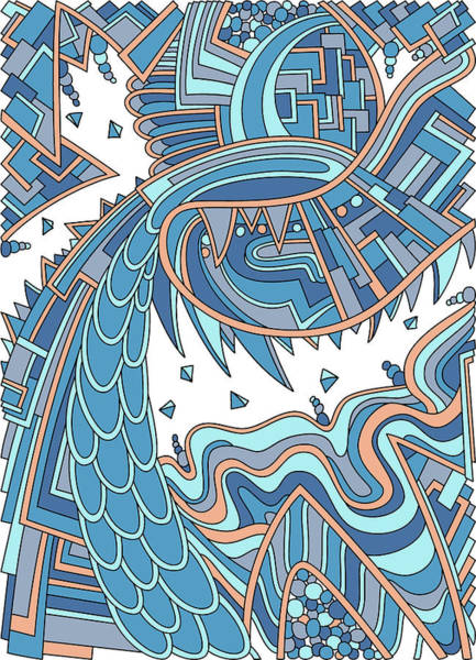 Drawing - Wandering 49 Color Variation 2 by Dream Ripple