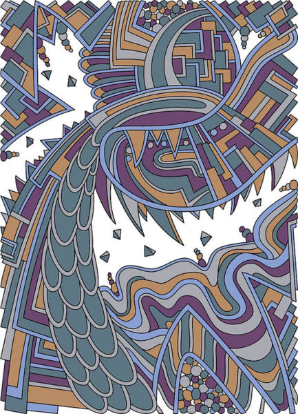 Drawing - Wandering 49 Color Variation 3 by Dream Ripple