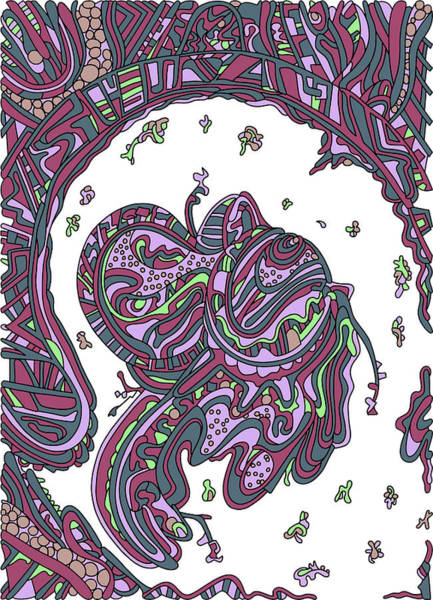 Drawing - Wandering 50 Color Variation 2 by Dream Ripple