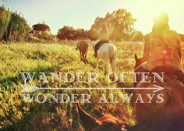 Photograph - Wandering Rome Quote by Jamart Photography