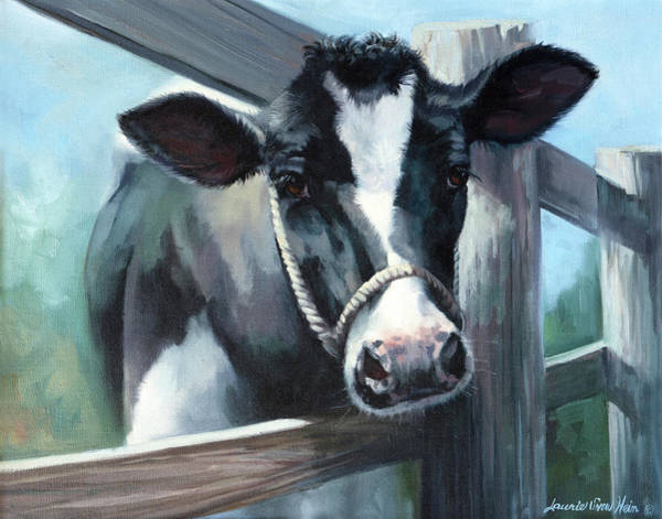 Wall Art - Painting - Wanna Cow Lick by Laurie Snow Hein
