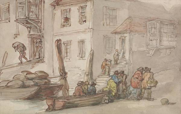 Drawing - Wapping Old Stairs by Thomas Rowlandson