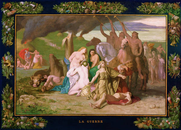 Wall Art - Painting - War - Digital Remastered Edition by Pierre Puvis de Chavannes