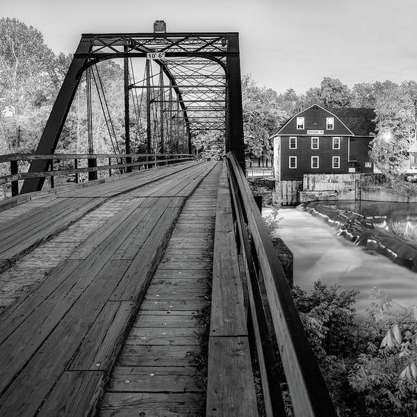 Photograph - War Eagle Bridge And Mill - Infrared Monochrome 1x1 by Gregory Ballos