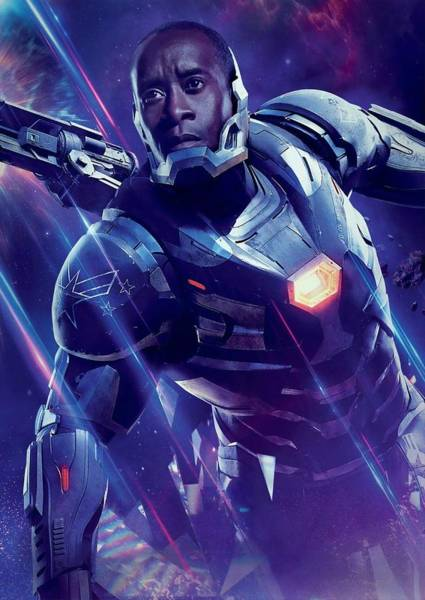 Wall Art - Digital Art - War Machine Avengers Endgame by Geek N Rock