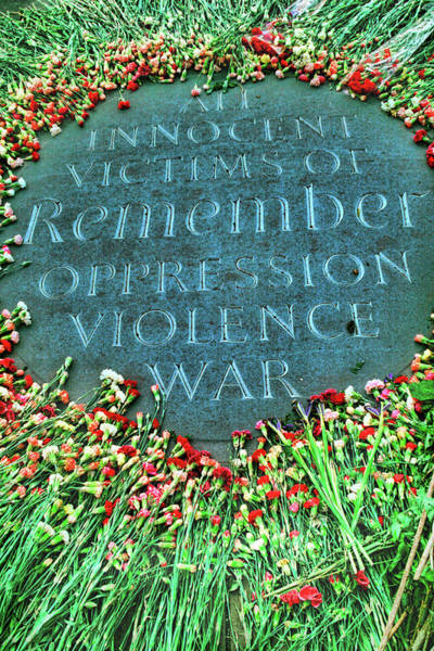 Remembrance Photograph - War Memorial Plaque by David Smith