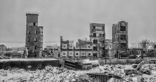 Photograph - Warehouse Ruins - Allegheny West - Philadelphia by Bill Cannon